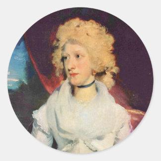 Retrato de Srta. Martha Carry By sir Thomas Lawren Pegatinas Redondas