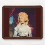 Retrato de Srta. Martha Carry By sir Thomas Lawren Alfombrillas De Raton