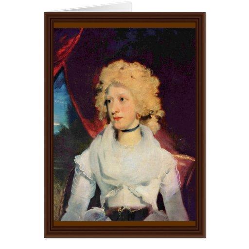 Retrato de Srta. Martha Carry By sir Thomas Lawren Tarjeta De Felicitación