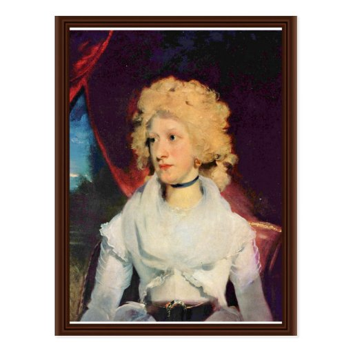 Retrato de Srta. Martha Carry By sir Thomas Lawren Tarjeta Postal