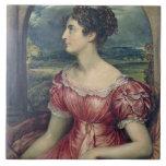 Retrato de Srta. Puxley, 1826 (aceite en lona) (vé Azulejo Cuadrado Grande