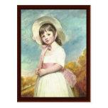 Retrato de Srta. Willoughby By George Romney Postales