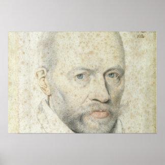 Retrato de St. Vincent de Paul Póster