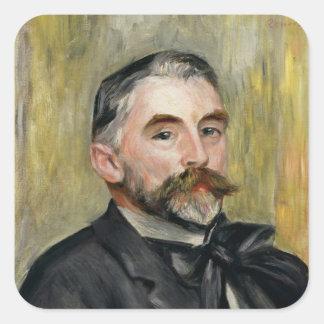 Retrato de Stephane Mallarme 1892 Pegatina Cuadrada