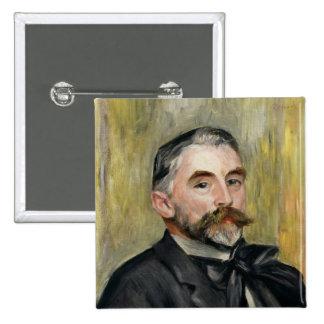 Retrato de Stephane Mallarme 1892 Pin Cuadrada 5 Cm