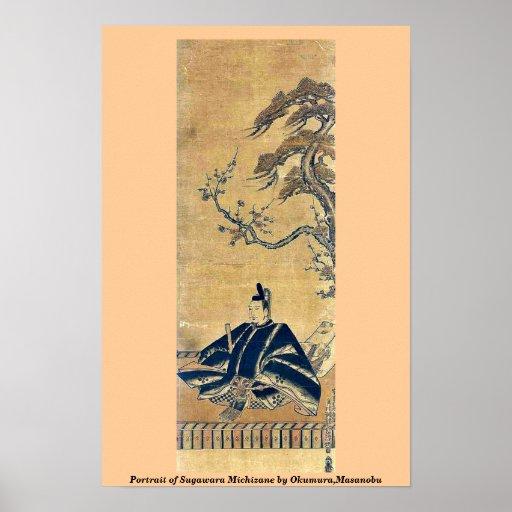 Retrato de Sugawara Michizane por Okumura, Masanob Poster