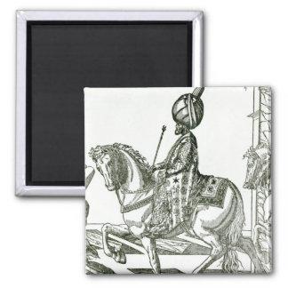 Retrato de Suleiman el magnífico Imanes De Nevera
