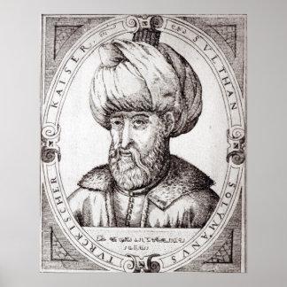 Retrato de Suleiman el magnífico Posters
