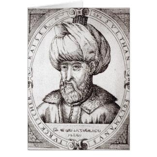 Retrato de Suleiman el magnífico Tarjeta
