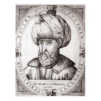 Retrato de Suleiman el magnífico Tarjeta Postal
