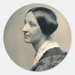 Retrato de Susan Brownell Anthony 1850 Etiqueta Redonda