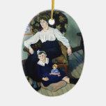 Retrato de Susana Valadon- de la coca y de la hija Ornamentos Para Reyes Magos