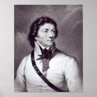 Retrato de Tadeusz Kosciuszko Póster