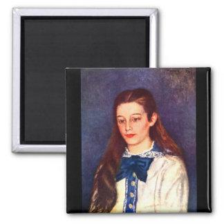 Retrato de Teresa Berard de Pedro Renoir Imán De Nevera