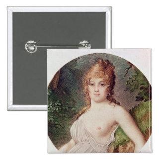 Retrato de Teresa de Cabarrus Pin Cuadrada 5 Cm