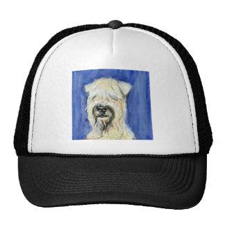 Retrato de Terrier de trigo Gorros