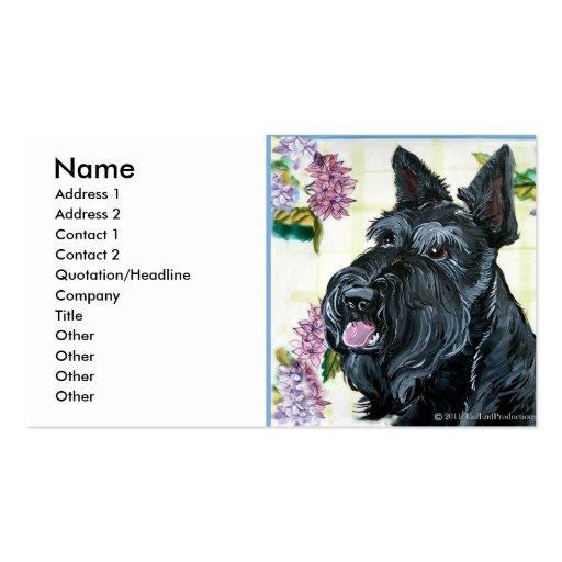 Retrato de Terrier del escocés Plantilla De Tarjeta De Visita
