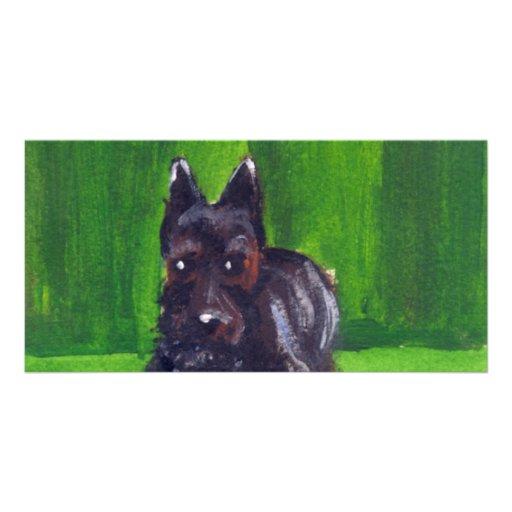 Retrato de Terrier escocés Tarjeta Con Foto Personalizada