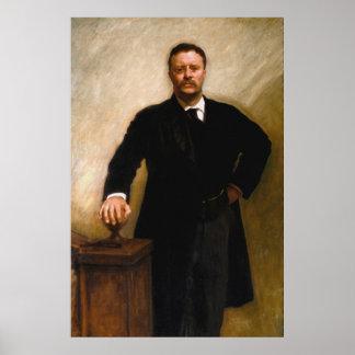 Retrato de THEODORE ROOSEVELT de John Singer Sarge Posters
