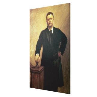 Retrato de Theodore Roosevelt Lona Envuelta Para Galerias