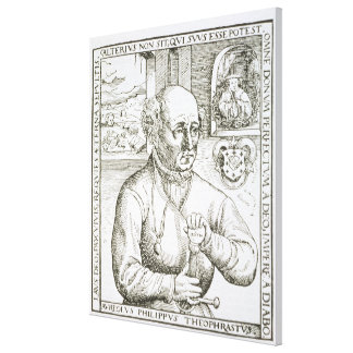 Retrato de Theothrastus Paracelsus (1493-1541), c Impresión En Lienzo