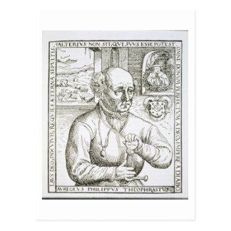 Retrato de Theothrastus Paracelsus (1493-1541), c Tarjeta Postal
