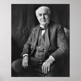 Retrato de Thomas Alva Edison Póster