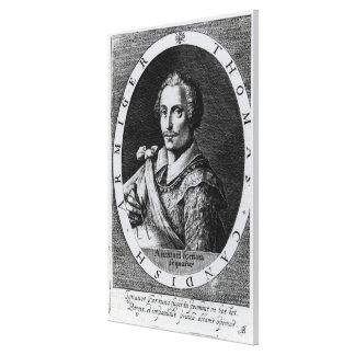 Retrato de Thomas Cavendish Impresión En Lienzo Estirada
