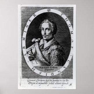 Retrato de Thomas Cavendish Posters