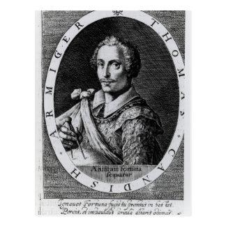 Retrato de Thomas Cavendish Tarjetas Postales