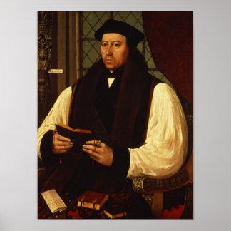 Retrato de Thomas Cranmer 1546 Póster
