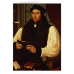 Retrato de Thomas Cranmer 1546 Tarjeta De Felicitación