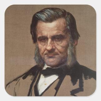 Retrato de Thomas Henry Huxley Pegatina Cuadrada
