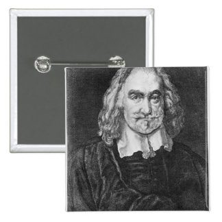 Retrato de Thomas Hobbes Pin Cuadrada 5 Cm