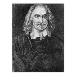 Retrato de Thomas Hobbes Tarjeta Postal