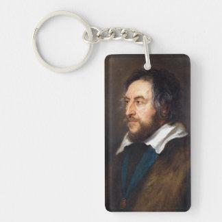 Retrato de Thomas Howard Peter Paul Rubens Llavero Rectangular Acrílico A Doble Cara