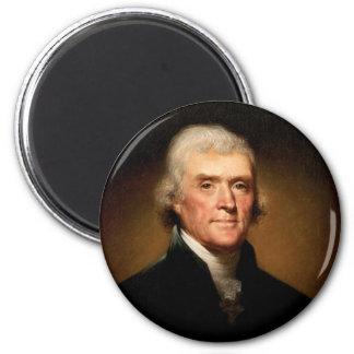 Retrato de Thomas Jefferson de Rembrandt Peale Imán Redondo 5 Cm