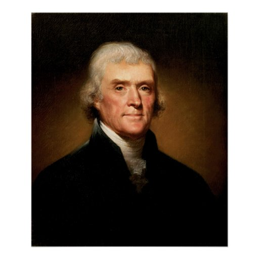 Retrato de Thomas Jefferson de Rembrandt Peale Póster