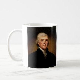 Retrato de Thomas Jefferson de Rembrandt Peale Taza Básica Blanca