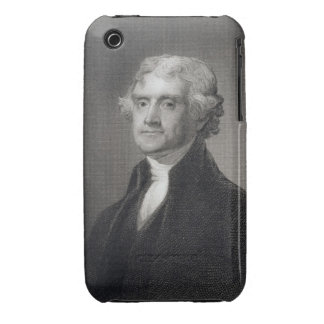 Retrato de Thomas Jefferson, grabado por el Br de Case-Mate iPhone 3 Cobertura