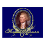 Retrato de Thomas Jefferson Postal