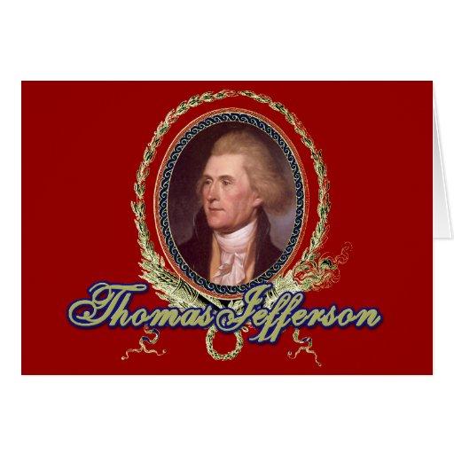 Retrato de Thomas Jefferson Tarjetas