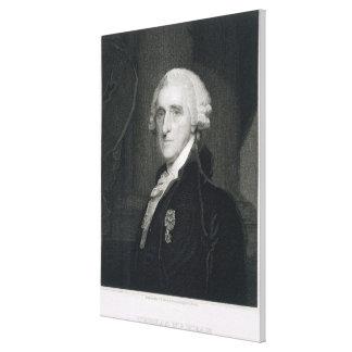 Retrato de Thomas McKean, grabado por Thomas B.W Impresión En Lona Estirada