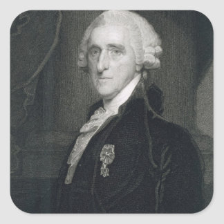 Retrato de Thomas McKean, grabado por Thomas B.W Pegatina Cuadrada