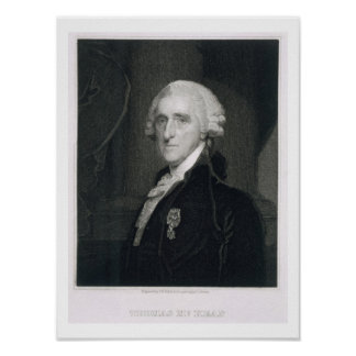 Retrato de Thomas McKean, grabado por Thomas B.W Póster
