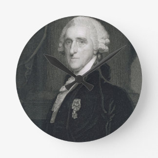 Retrato de Thomas McKean, grabado por Thomas B.W Reloj Redondo Mediano