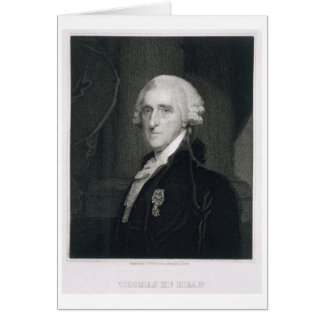 Retrato de Thomas McKean, grabado por Thomas B.W Tarjeta De Felicitación