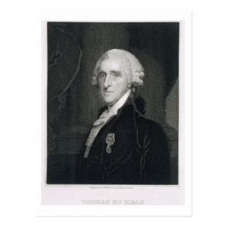 Retrato de Thomas McKean, grabado por Thomas B.W Tarjeta Postal