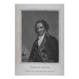 Retrato de Thomas Paine del volumen I Impresiones