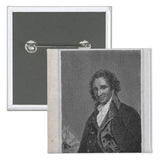 Retrato de Thomas Paine del volumen I Pin Cuadrado
